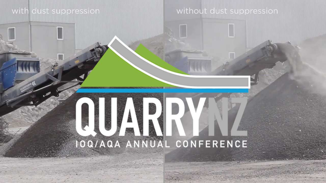 Quarry NZ Expo - biOx International Dust Suppression